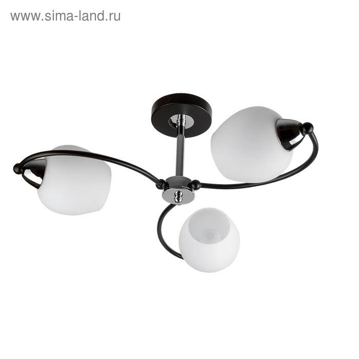 """Люстра  """"Темпи"""" 3 лампы E14 60Вт венге 60х60х24,5 см."""