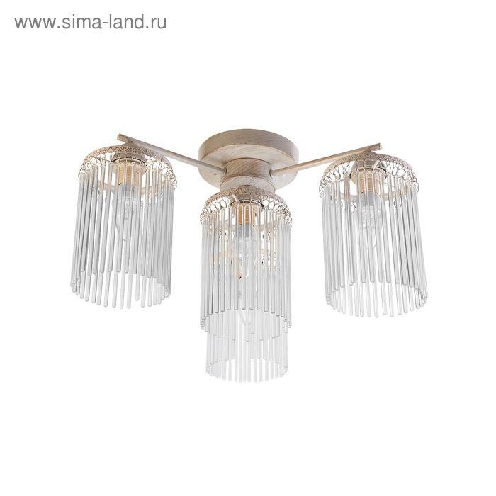 "Люстра  ""Силвия"" 4 лампы E14 60Вт белый-золото 50х50х27 см."