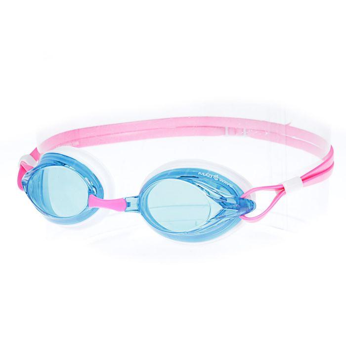 Очки для плавания SPURT, цвет розовый/голубой