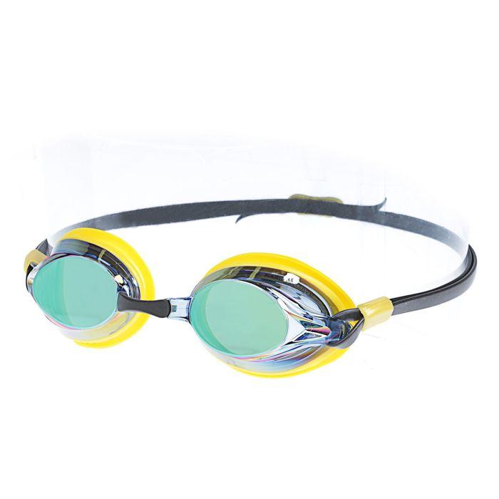 Очки для плавания SPURT Rainbow, цвет жёлтый/чёрный