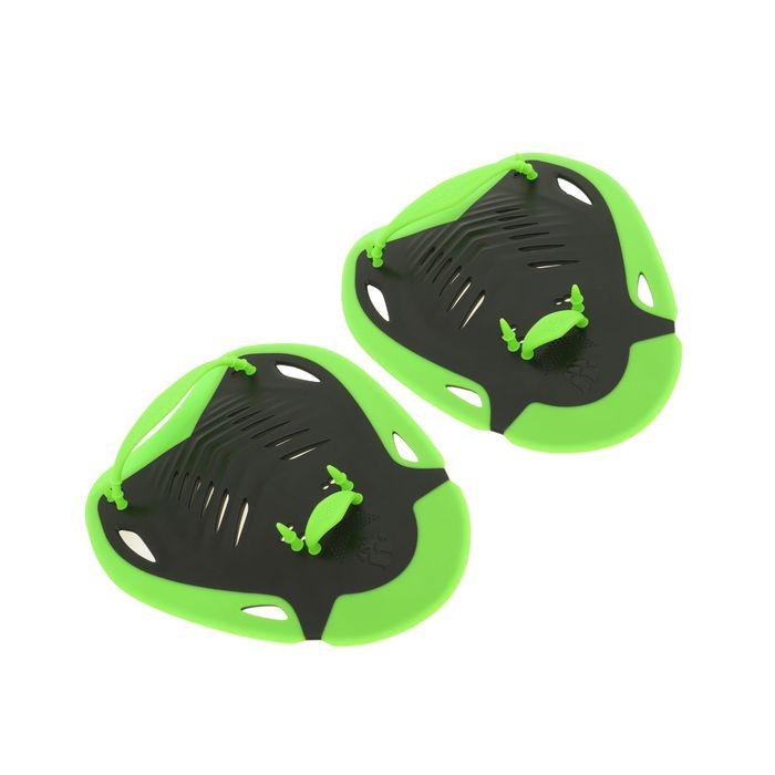Лопатки ERGO, размер L, цвет чёрный/зелёный