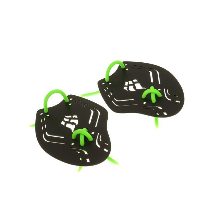 Лопатки Trainer Paddles Extreme, 20х14.3х0.3 см, размер S, цвет чёрный/зелёный