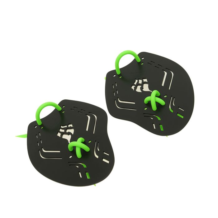 Лопатки Trainer Paddles Extreme, 21.7х16х0.3 см, размер M, цвет чёрный/зелёный