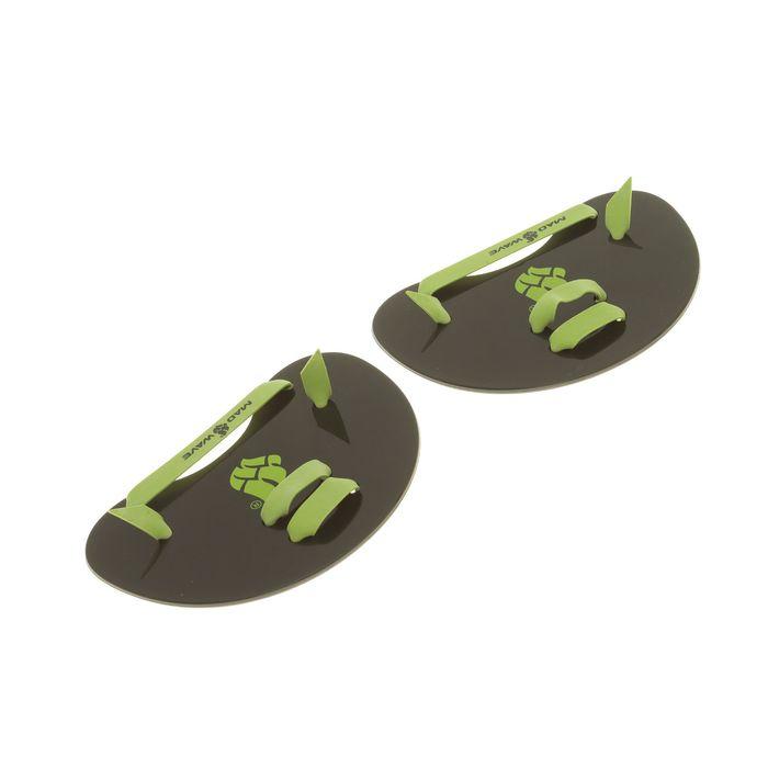 Лопатки на пальцы Finger Paddles, размер универсальный, M0745 05 0 00W, чёрный/зелёный