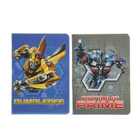 Записная книжка А6, 24 листа на скрепке Transformers, двойной УФ-лак, МИКС Ош