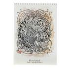 Альбом для зарисовок А4, 40 листов на гребне Sketchbook, блок акварельная бумага 80г/м2, жёсткая подложка
