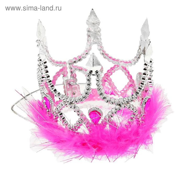"""Корона """"Принцессы"""", на веревочке, меховая"""
