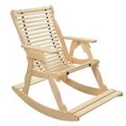 """Кресло-качалка на ленте, 70×130×120см, из липы, """"Добропаровъ"""""""