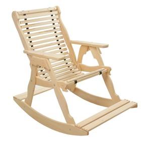 Кресло-качалка на ленте, 70×130×120см, из липы, 'Добропаровъ' Ош