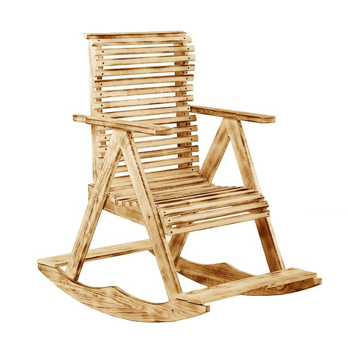 """Кресло-качалка 70х110х90см, """"Термо"""" липа """"Добропаровъ"""""""