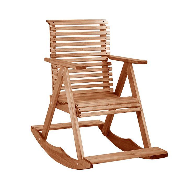 """Кресло-качалка мореное 70х110х90см, липа """"Добропаровъ"""""""