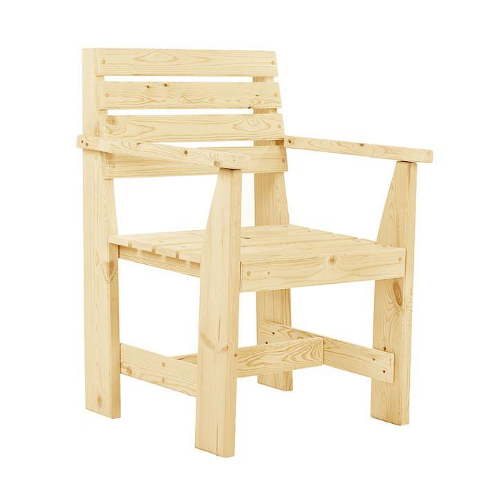 """Кресло к набору """"Дачный"""" классический, натуральная сосна"""