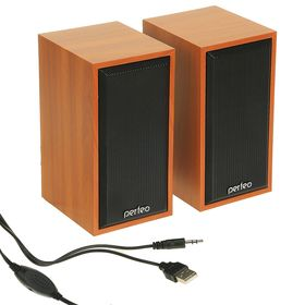 Computer speakers 2.0 Perfeo CABINET PF-84, 2x3 W, USB, wood