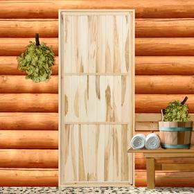 Дверь глухая 'ЭКОНОМ' , горизонталь, липа сорт  Б, 180 х 80см Ош