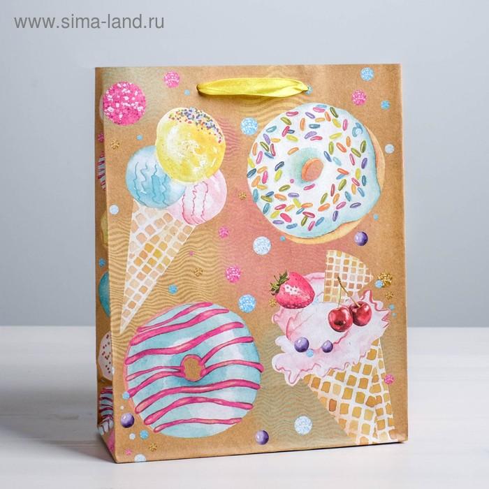 Пакет вертикальный крафт «Любимые сладости», ML 23 х 27 х 8 см