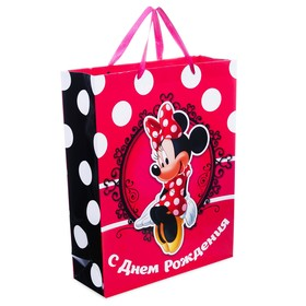 "Vertical Laminated Bag ""Happy Birthday, Pretty Woman!"", Minnie Mouse, 23 x 27 x 11.5 cm."