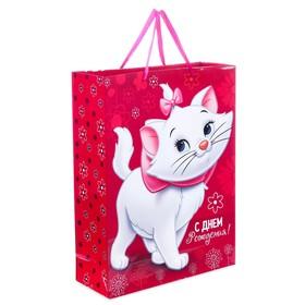 """Пакет ламинированный вертикальный """"С Днем рождения, чудесная девочка!"""", Коты аристократы, 31 х 40 х 11 см"""