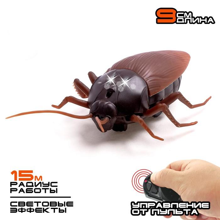 """Жук радиоуправляемый """"Таракан"""", работает от батареек, свет"""