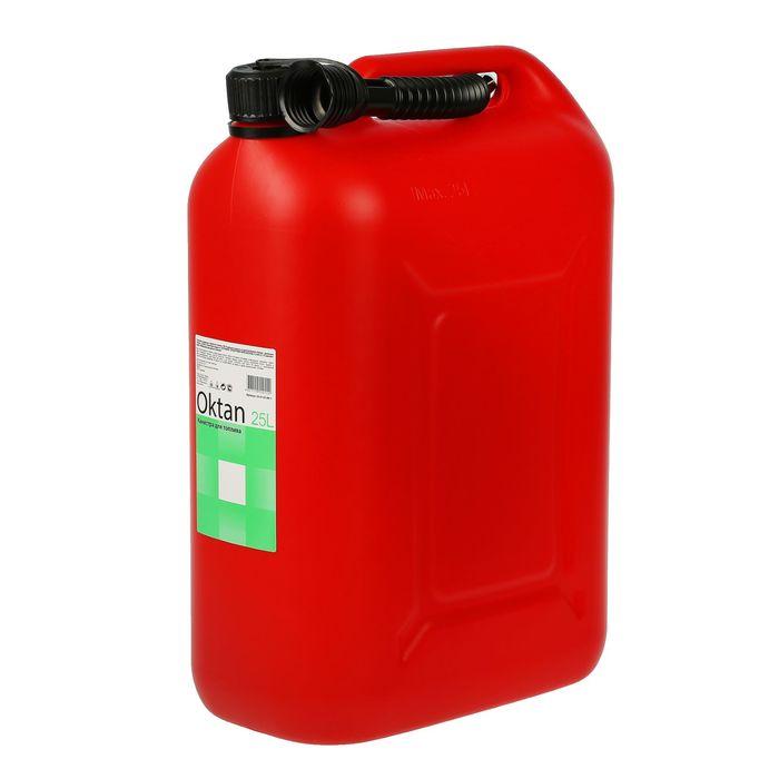 Канистра ГСМ Oktan CLASSIK, 25 л, пластиковая, красная