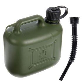 Канистра ГСМ Oktan PROFI, 5 л, пластиковая, усиленная, зеленая Ош