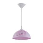 """Светильник  Колпак """"Рочелл"""" 1 лампа E27 40Вт белый-розовый  д.250"""