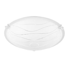"""Светильник настенно-потолочный  Дюна """"Нити"""" 2 лампы E27 40Вт белый   д.300"""