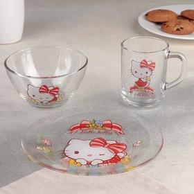 Набор посуды детский «Hello Kitty», 3 предмета