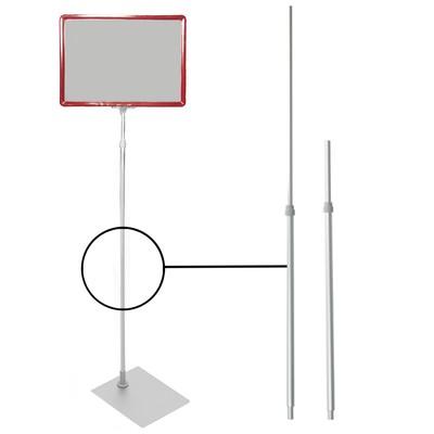 Трубка для рекламных стоек, телескопическая 60-90 см, d12 нижний, d9 верхний