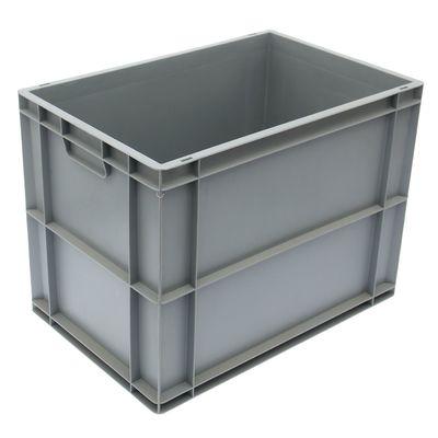 Ящик п/п 60х40х45 см сплошной, дно с усилением, цвет серый