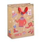 Пакет крафтовый вертикальный «Теплого счастья!», 18 × 23 × 8 см