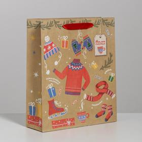 "Package craftily vertical ""Warm happiness!"", 23 × 27 × 8 cm"