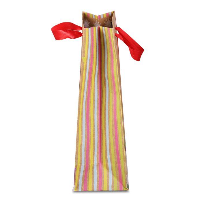 Пакет крафтовый вертикальный «Ёлочка-красавица», 18 × 23 × 8 см