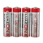 LuazON battery-alkaline, AA, LR6, spike, 4 PCs