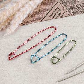 A set of auxiliary pins for knitting, 3 PCs, 9/11,5/15 cm, MIX color