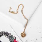 "Кулон ""Сердце"" объёмное, цвет золото, 43 см"