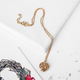 """Pendant """"Heart"""" volume, color gold, 43 cm"""