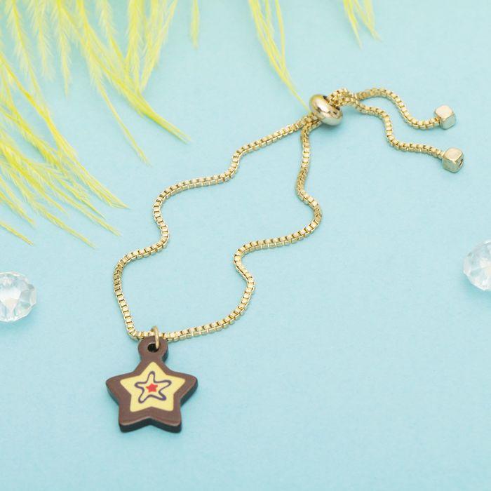 """Браслет ассорти """"Мини"""" звезда, цвет чёрно-жёлтый в золоте"""