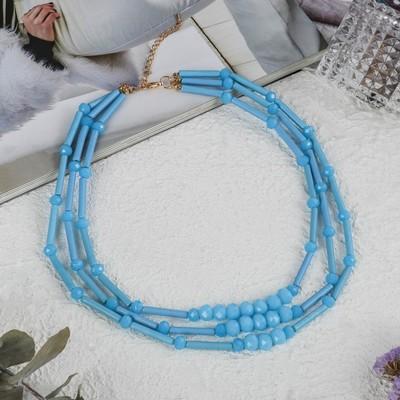 Beads 3 strands of Pastel, mint color, 45cm