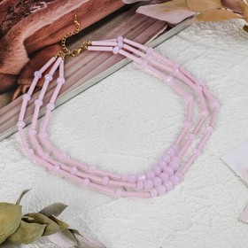 Beads 3 tier Pastel, pink color, 45 cm