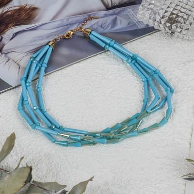 Beads 4 strands Cascade, color blue, 45cm