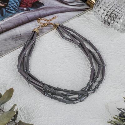 Beads 4 strands Cascade, colour grey, 45cm