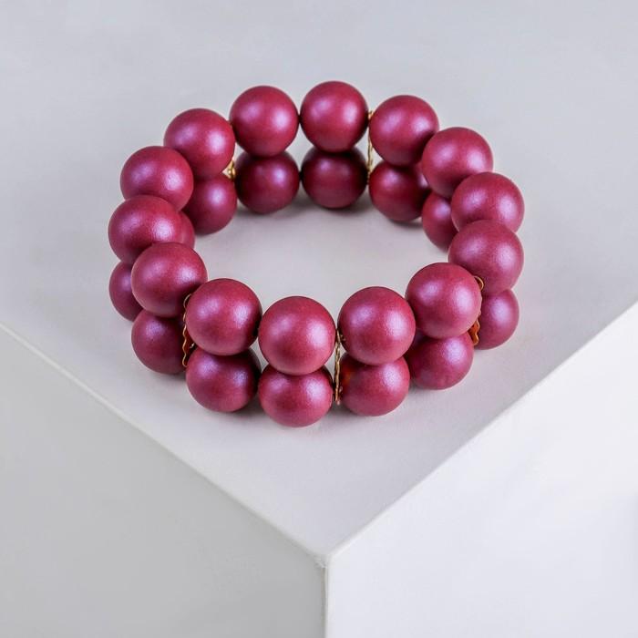 """Браслет пластик """"Настроение"""" 2 ряда, цвет бордовый - фото 506387506"""