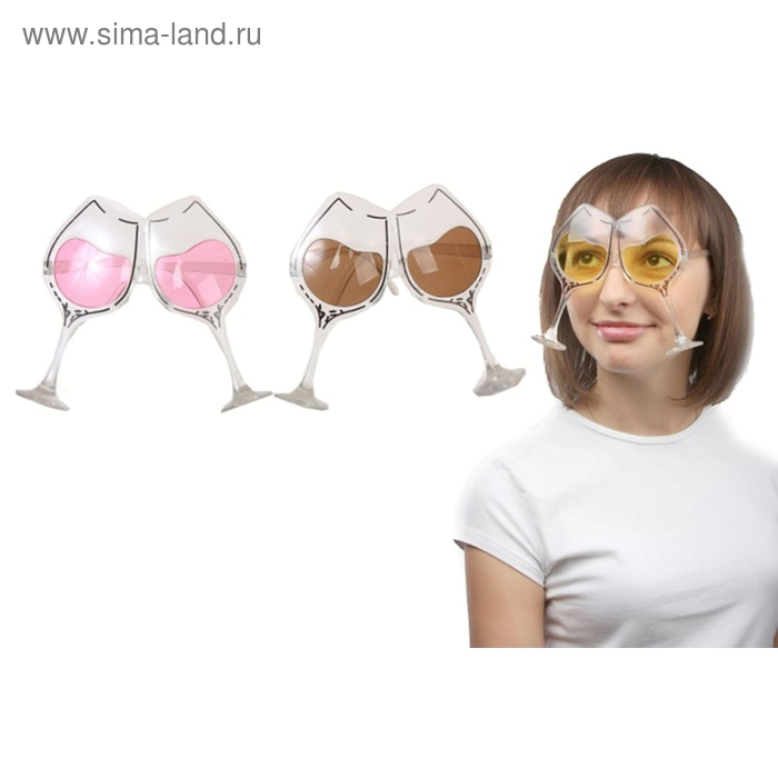 Карнавальные очки, цвета МИКС