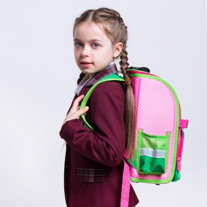 Ранец 35x26x16 см, EVA-спика, разборный, 2 отделения 3 кармана, «Цветы» - фото 369756122