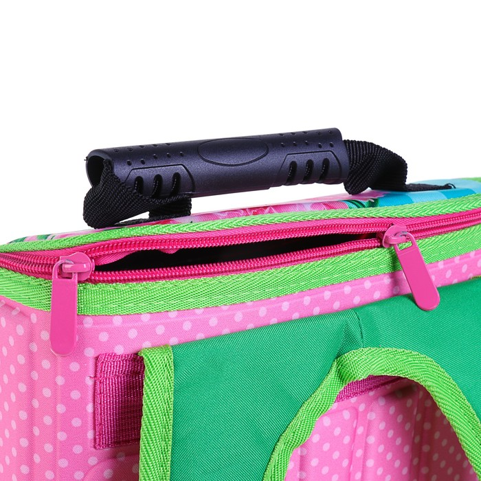 Ранец 35x26x16 см, EVA-спика, разборный, 2 отделения 3 кармана, «Цветы» - фото 369756115