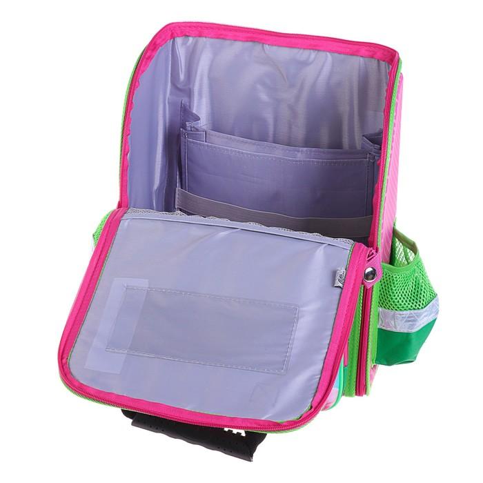 Ранец 35x26x16 см, EVA-спика, разборный, 2 отделения 3 кармана, «Цветы» - фото 369756117