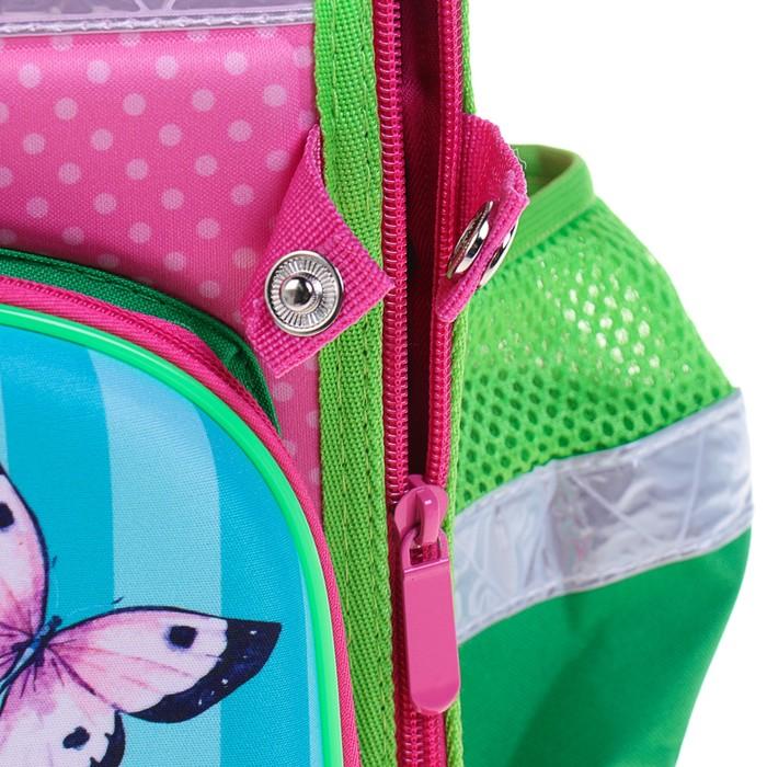 Ранец 35x26x16 см, EVA-спика, разборный, 2 отделения 3 кармана, «Цветы» - фото 369756118