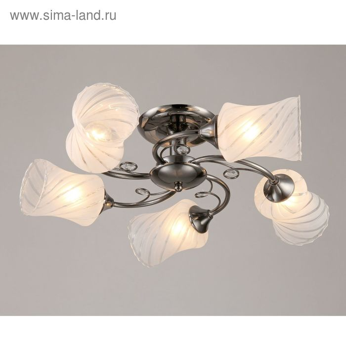"Люстра ""Лана"" 5 ламп  Е27 40Вт черный-хром 62,5x62,5х15,5"