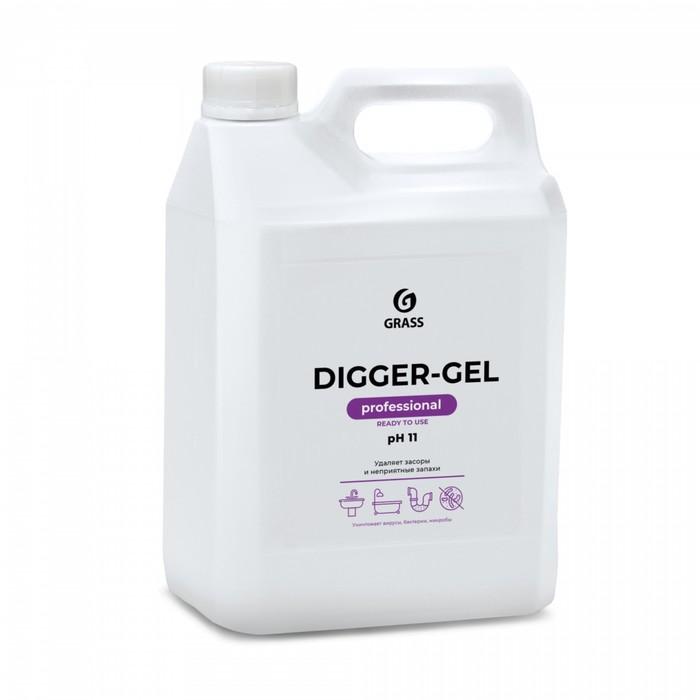 Средство щелочное для прочистки канализационных труб DIGGER-GEL, 5,3 кг
