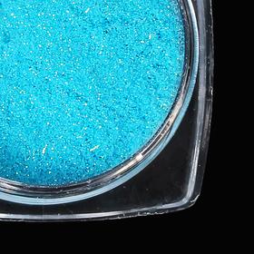 Пыль для ногтей, 1 гр, цвет голубой